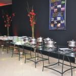 Salao Nobre EOC Sede Campestre Mesa de vidro para banquete